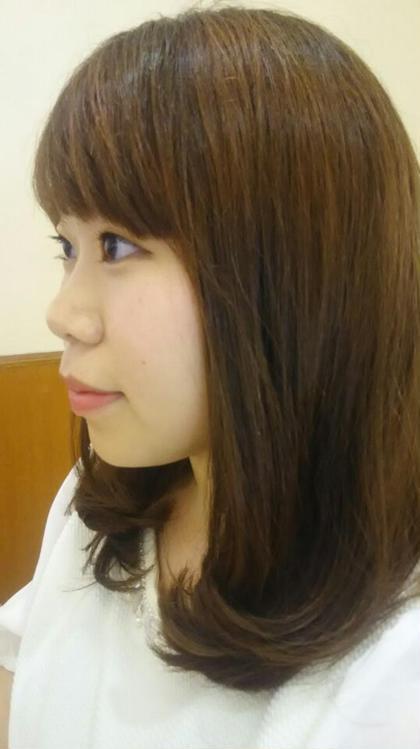 カット希望でしたので、毛先の長さを切らせて いただき  小手で巻き、可愛く仕上げました♪ 松本平太郎美容室所属・木村恵のスタイル