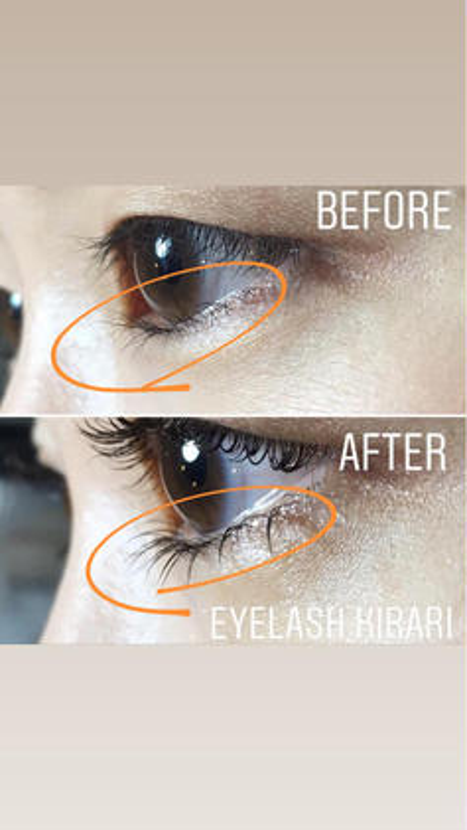 バラバラに生えてる睫毛も下にぐいっと下げてマスカラが塗りやすい毛流れに♬