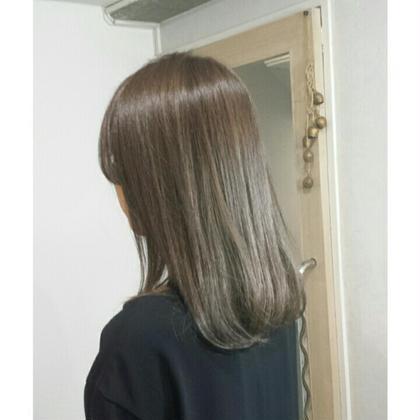 (髪質改善🌈ボリュームダウン&艶サラ✨)カット➕カラー➕髪質改善チューニング➕フローディアマスクトリートメント