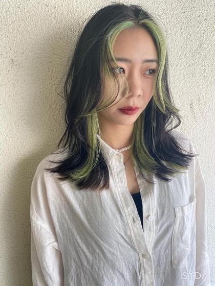 【顔まわりのカット+カラー+トリートメント】