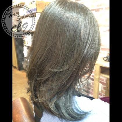 ミンティーアッシュの ブルージュグラデーション  シングルカラーでもキレイな色ですよ。 Hair salon cl9所属・Yutakaのスタイル
