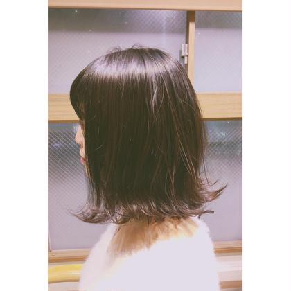 切りっぱなしボブ♡ hair salon LOERUN所属・笠原めぐみのスタイル