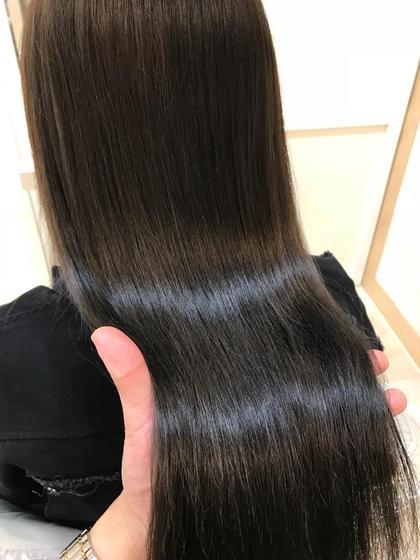【ブリーチしてても大丈夫‼️】広がりを抑える艶髪ストレート&プレミアムトリートメント