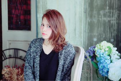 サイドパート Aju-r hair design(アジュールヘアデザイン)所属・前田海希のスタイル