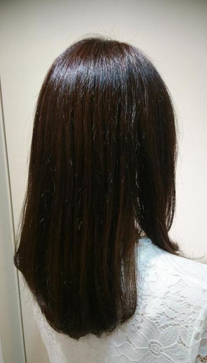 【🌈自然なストレートヘアに✨】ツヤツヤ縮毛矯正&ダメージ補正トリートメント✨ペタっとしない自然な仕上がりです