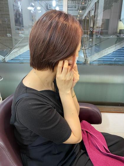 前髪カット+フルカラー+Aujua2stepトリートメント