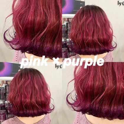 カラーバターで🦋周りと差のつくデザインカラー💫ブリーチ+カラー+カラーバター+毛髪補修トリートメント✨