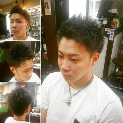フロントアップの爽やかツーブロックショートスタイル Hair Salon Kaming所属・中村真也のスタイル