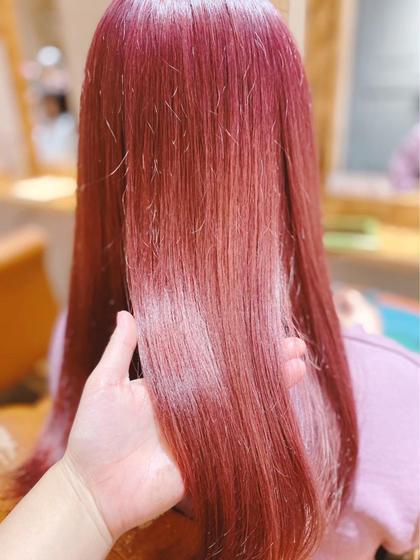 🍑 W color(ケアブリーチ込) ➕ treatment 🍑
