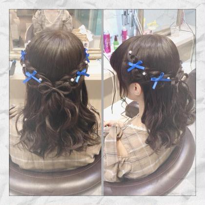 ライブ コンサートヘア 編み込み髪リボン 1つ 500 ハーフアップ