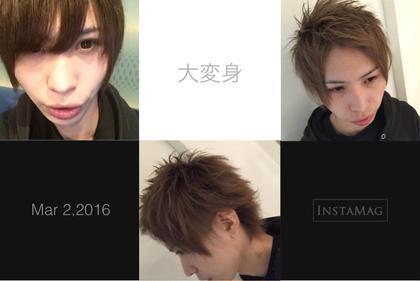 前髪立ち上げショートスタイル ベルグロークロス所属・柿田涼一のスタイル