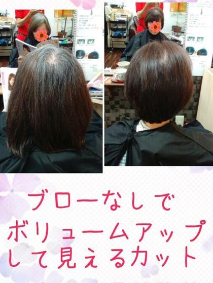 ボリュームアップカットカラー 髪結い処櫟所属・瀧島まやのスタイル