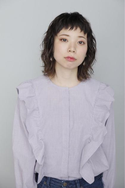 くせ毛を生かしたナチュラルミディ  BiBi aqueous所属・佐川友里のスタイル