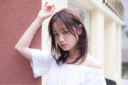 ⭐️前髪カット+透明感カラー【高級トリートメント無料】