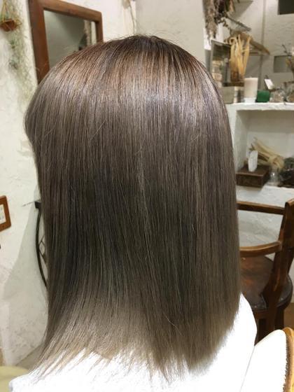 """【ブリーチなしで外国人風】スロウカラー☆スモーク感のある透明感が可愛い❤️""""外国人風の髪色に♪"""
