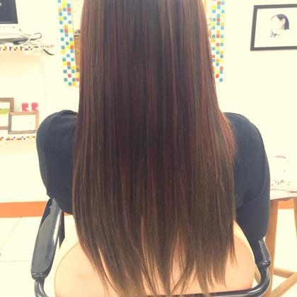 艶髪イルミナカラー ポイントにトワイライトカラーで秋スタイル ジュネス小林店所属・久保貴洋のスタイル