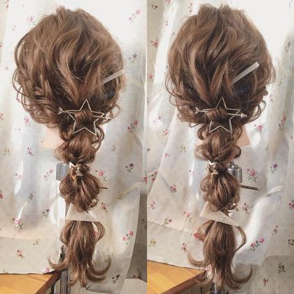 編みおろしスタイルのアレンジ得意です♪ Dejave hair&space西千葉店所属・鶴岡七海のスタイル