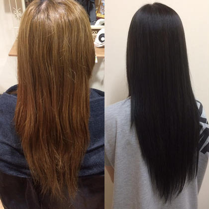 傷んだブリーチ毛を黒染め✨ MAGNET HAIR 段原店所属・宮原諒馬のスタイル