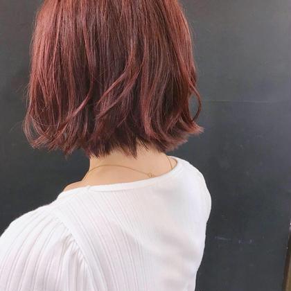 【✨初回限定✨】ブリーチなしボルドー系カラー🍷+似合わせカット+髪質改善最高級TOKIO IE トリートメント✨✨