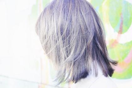 ハイライト入れたあとにviolet×greyをonカラー( ´∀`) AUBEhairbell 中野店所属・川田智大のスタイル