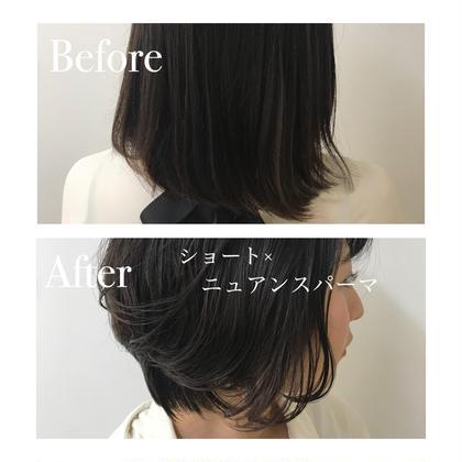 髪の毛に自然な動き、柔らかさが欲しい方  自分でも簡単にスタイリングできる  ♡ショート×ニュアンスパーマ♡ パーマ人気No.1TOSAのパーマ