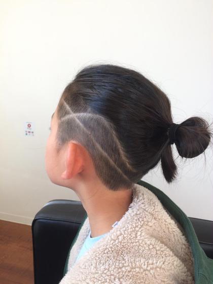 イケてる小学生カット alpha hair salon九大学研都市店所属・大川由起子のスタイル