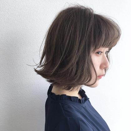 抜け感ボブとホワイトグレージュ✨ PARK所属・トップスタイリスト阿部 将明のスタイル