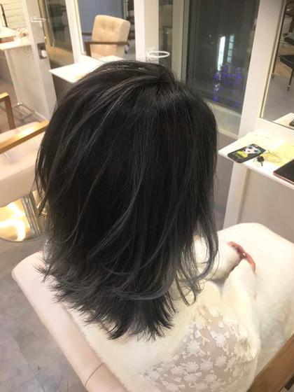 カラー ミディアム balayage / white gray✂︎ ベース.ブリーチ3回〜