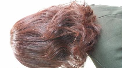 カラー セミロング パーマ ミディアム 重めにカットなのにかなり動きがでるパーマをON☆カラーは春に向けての暖かい色に☆