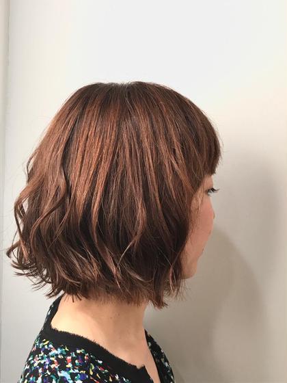 髪のメンテナン✨カット+カラー(リタッチ)+3stepトリートメント(髪の内部補修)