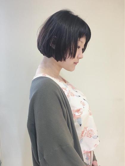 ボブ♩ フロントも短くしました(^^) The B所属・千葉友梨恵のスタイル