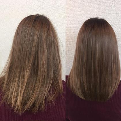 ノーアイロン縮毛矯正✨ブリーチ履歴3回のお客様です✨ 💘髪質改善No1.LetizbyONE's💘所属・⭐️髪質改善美容師スズキカノト⭐️のスタイル