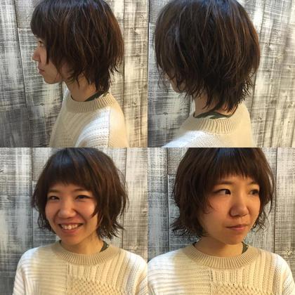 たっぷりレイヤーのショートウルフスタイルです(^_^) LUAU所属・今中智子のスタイル