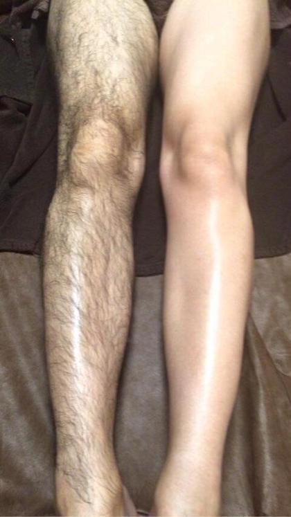 男性の脚も こんなに ツルツル☆ Growingbeautysalon3m所属・兒玉知代のスタイル