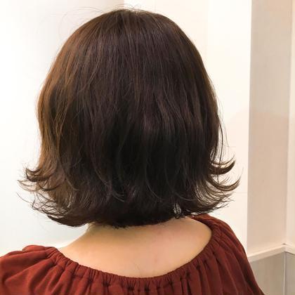 カラー ショート 暗かった髪をくすんだ感じに明るく❤︎❤︎