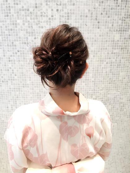 浴衣着付け撮影の一コマ VISAGE GINZA所属・工藤武士のスタイル