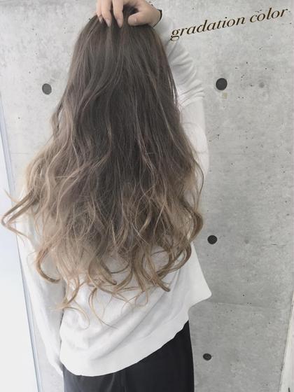 (巻き髪に相性最高!)✨外国人風グラデーションカラー & 髪質改善トリートメント✨