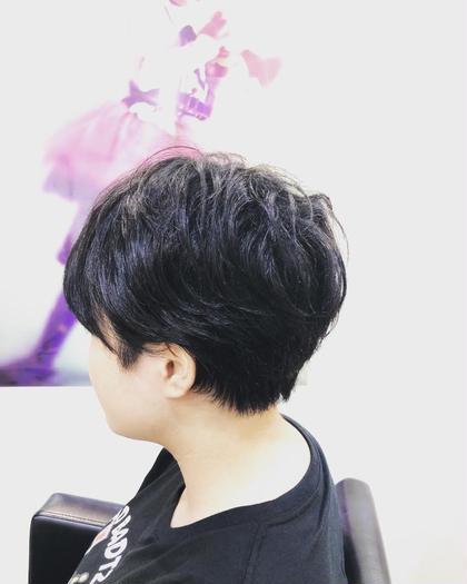 襟足スッキリめのショートボブスタイル☆