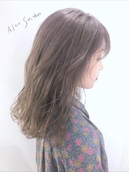 【❤️リピートNO.1❤️】前髪カット+外国人風グロスカラー+シルクTR無料