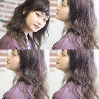 ライトパープル✄透け感たっぷり、少し暗めで派手になりすぎないカラー 渋田幸恵のヘアスタイル・ヘアカタログ