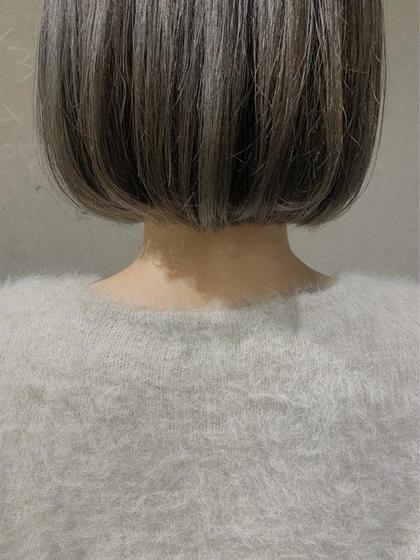カット+髪質改善ストレート+トリートメント