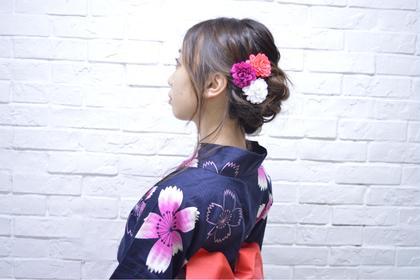 *アップstyle *浴衣アレンジ vivace 公園通り店所属・大谷友貴美のフォト