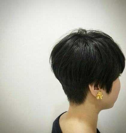 襟足を刈り上げつつ、トップには丸み♪ メンズっぽさの中に乙女感出しました(* ̄∇ ̄)ノ Hair&Beauty miq大山所属・竹内愛のスタイル