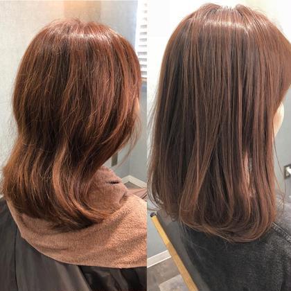 縮毛 長岡諒のミディアムのヘアスタイル