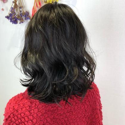 黒染めの髪にイルミナカラーをオン! 明るすぎず暗すぎず 透明感のある仕上がりに! NYNY守口店所属・廣畑昌志のスタイル