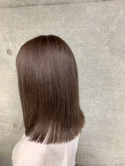 1️⃣全体ブリ✨新規限定✨前髪カット代なし‼️ケアブリーチ+ノーマルカラー+選べる3stpトリートメント+前髪カット