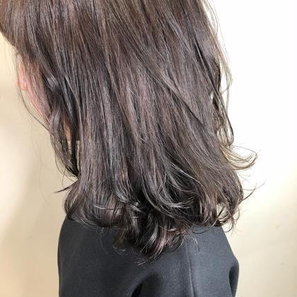 🦋haircut &one color ナチュラル 透明感 暗髪 黒髪風🦋