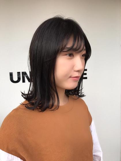 ミディアム 艶髪❤️  秋色❤️  外ハネ❤️