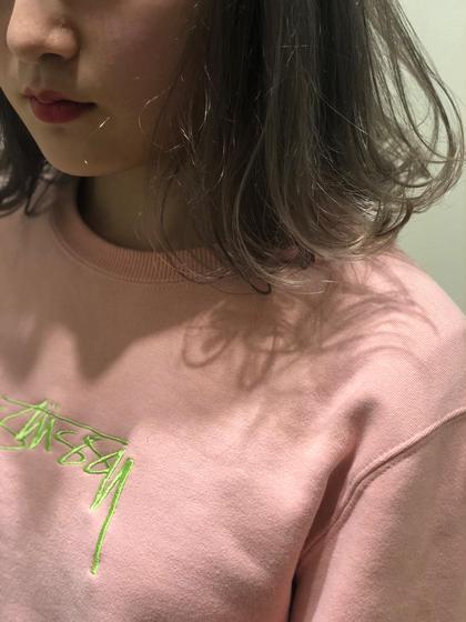 イルミナカラー wカラー グレージュ E I GHT shinjuku [エイト] 新宿店所属・藤野正博のスタイル