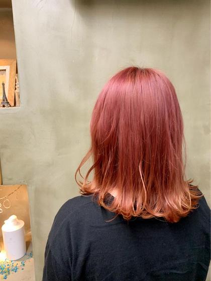 ブリーチ必須✂︎✂︎  赤み過ぎないベビーピンク! アンダーが抜けてるほど鮮やかな色味になります!